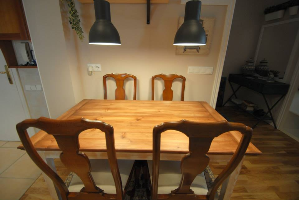 Mesa a medida pino macizo sueco carpinteria de madera - Medidas mesa comedor ...