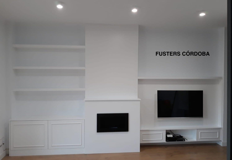 Muebles Lacados Blanco Para Salon.Mueble De Salon A Medida Lacado En Blanco De Diseno